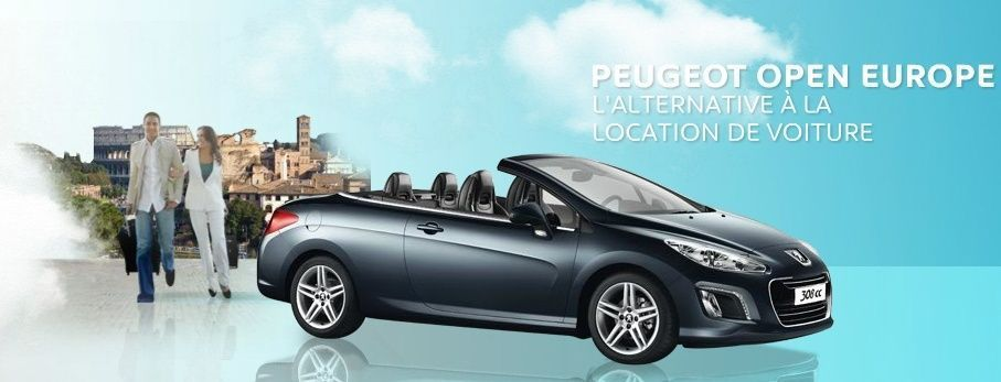 Peugeot Open Europe : location de voitures en transit temporaire